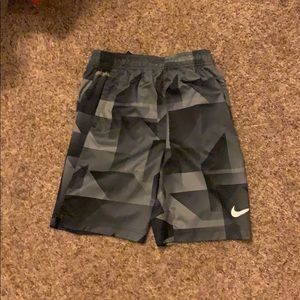 gray and black nike shorts // jcpenneys